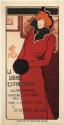 Vintage La Libre Esthetique Salon Annuel Advertising Poster